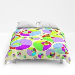 Bubble yellow & purple 10 Comforters