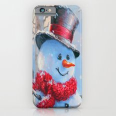 Snowman in the Woods Slim Case iPhone 6s