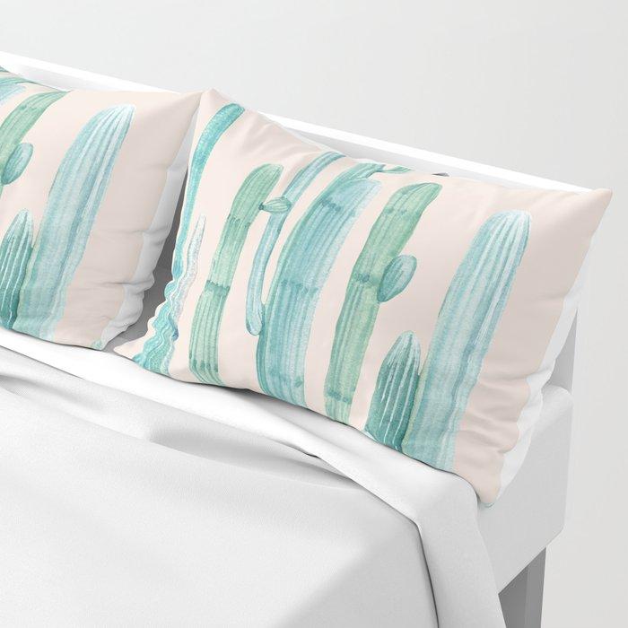 Three Amigos Turquoise + Coral Pillow Sham