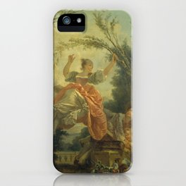The Seesaw by Jean-Honoré Fragonard iPhone Case