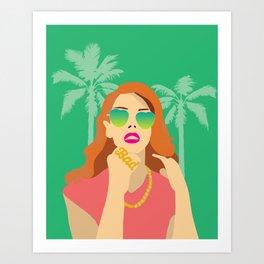 Lana Palm Trees Art Print