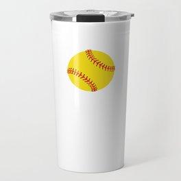 Proud and Loud Softball Mom Funny Sports T-shirt Travel Mug