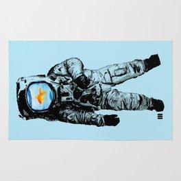Goldfish Astronaut Rug