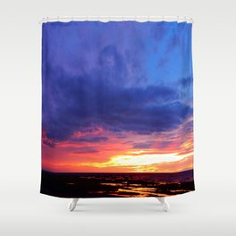 Evening's Face Shower Curtain