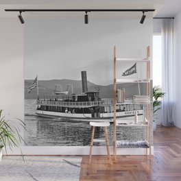 Vintage Mohican Steamboat Wall Mural