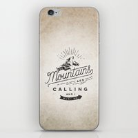 mountains iPhone & iPod Skins featuring Mountains by Seaside Spirit
