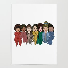 Scarf Rainbow Poster