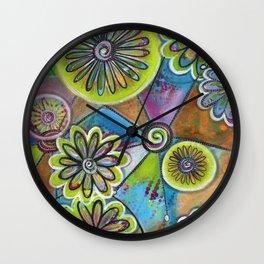 """The Power of Art"" | original painting by Mimi Bondi Wall Clock"