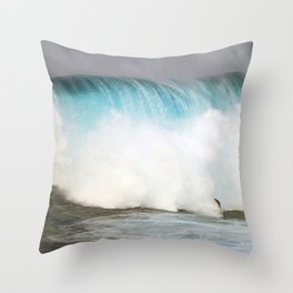 Wave Series Photograph No. 31 - Big Blue Throw Pillow