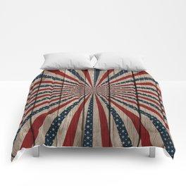 Patriotic Wood Texture #3 Comforters