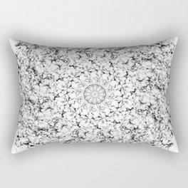 Galaxy Mandala Black & White Rectangular Pillow