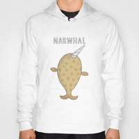 narwhal Hoodies featuring Narwhal by Carl Batterbee Illustration