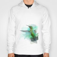 hummingbird Hoodies featuring Hummingbird by Marvelis