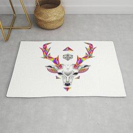 Geometric Deer Head & D20 Rug