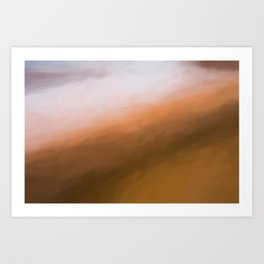 Abstract Orange to White Shades.   Like painted on canvas. Art Print