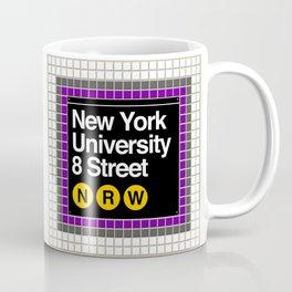 subway nyu sign Coffee Mug
