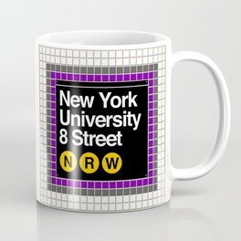 subway nyu sign Coffee Mug