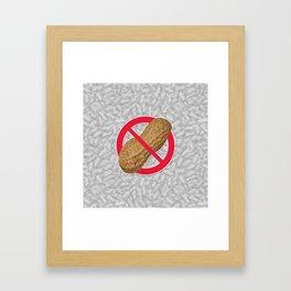 Peanuts Are Forbidden - Les Arachides Sont Interdites Framed Art Print
