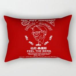 Bernie Sanders Sriracha Style Feel The Bern Rectangular Pillow