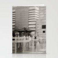 seoul Stationery Cards featuring Abstract Seoul by Zayda Barros