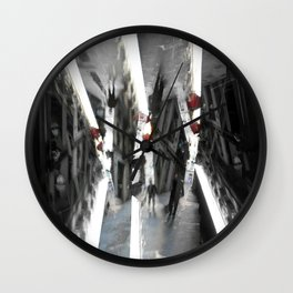 Incongruous like aspiring via acts of desperation. [C] Wall Clock