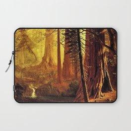 Giant Redwood Trees of California by Albert Bierstadt Laptop Sleeve