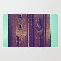 door Area & Throw Rugs featuring door by gzm_guvenc