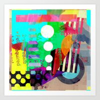 good vibes Art Prints featuring Good Vibes by Lynsey Ledray