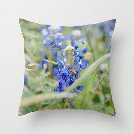 Texas Bluebonnets 9 Throw Pillow