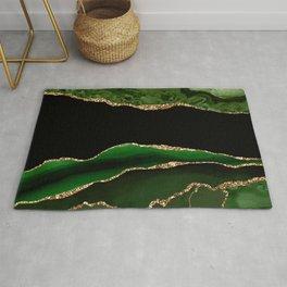 Emerald Marble Glamour Landscapes Rug