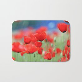 Red Poppies 2 Bath Mat