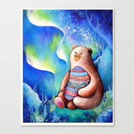 Spirit Bear Tribal Print Canvas Print