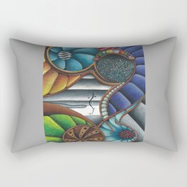 Color Fans Rectangular Pillow
