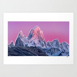 Sunset Mountains Art Print