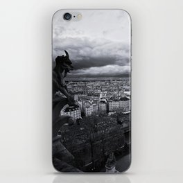 The Gargoyle Guarding Paris. iPhone Skin