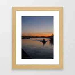 smooth sailin'. Framed Art Print