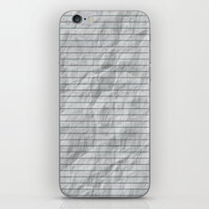 Crumpled Lined Paper iPhone & iPod Skin