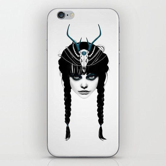 Wakeful Warrior - In Blue iPhone & iPod Skin