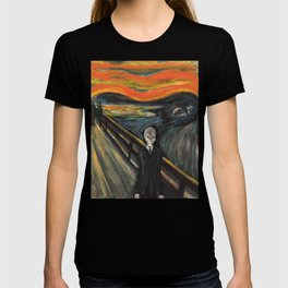 The Silence - When The Doctor Meets Munch T-shirt