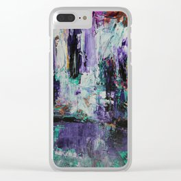 The Order Of The Violet Women Abstract Painting Clear iPhone Case