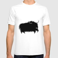 The Yak Mens Fitted Tee SMALL White