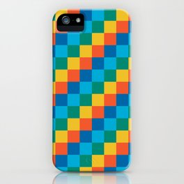 Color me happy - Pixelated Pattern in bright colors iPhone Case