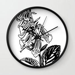 wild flower: digitalis purpurea Wall Clock