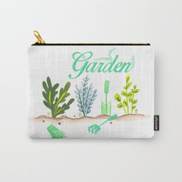 Lovely Little Herb Garden Carry-All Pouch