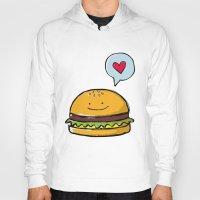 hamburger Hoodies featuring Hamburger Doodle by Andrea Tobar