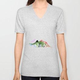 Mightymorphinosaurus Unisex V-Neck