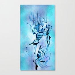Bluish Cream Canvas Print