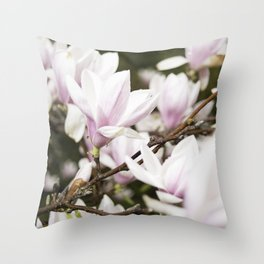 Beautiful Pink Blossoms Greet the Day Throw Pillow