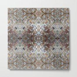 Nacrous Modern Pattern Metal Print