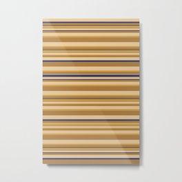 Ancient Minoan Stone Stripes Metal Print